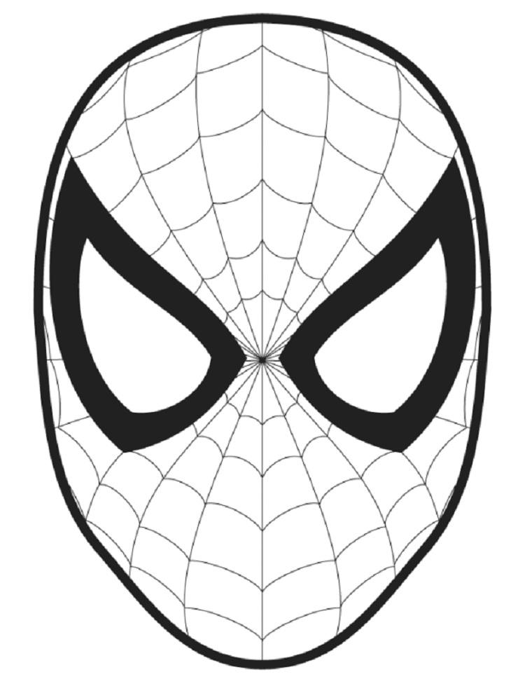 Spiderman Coloring Pages Face