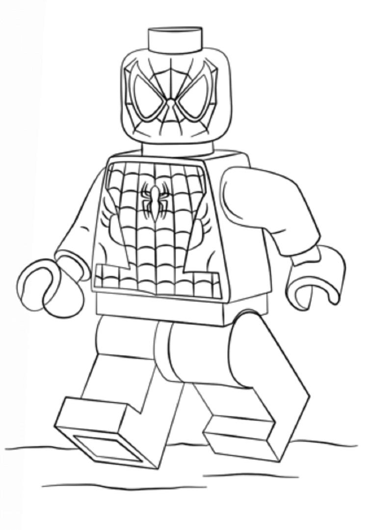 Spiderman Coloring Pages Lego