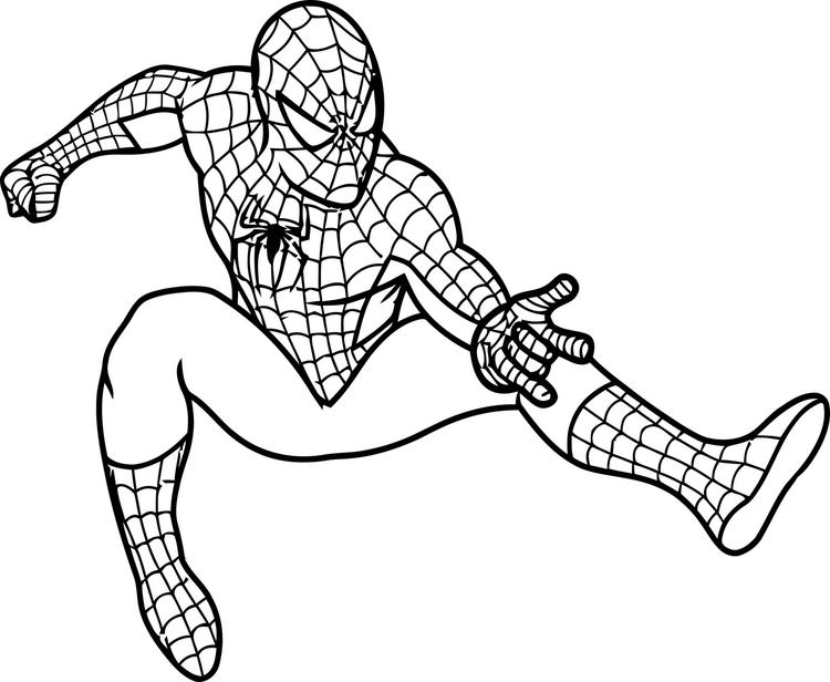 Spiderman Coloring Pages Shooting Web Pose