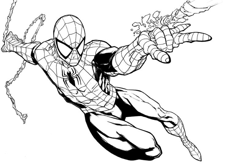 Spiderman Coloring Pages Shooting Web