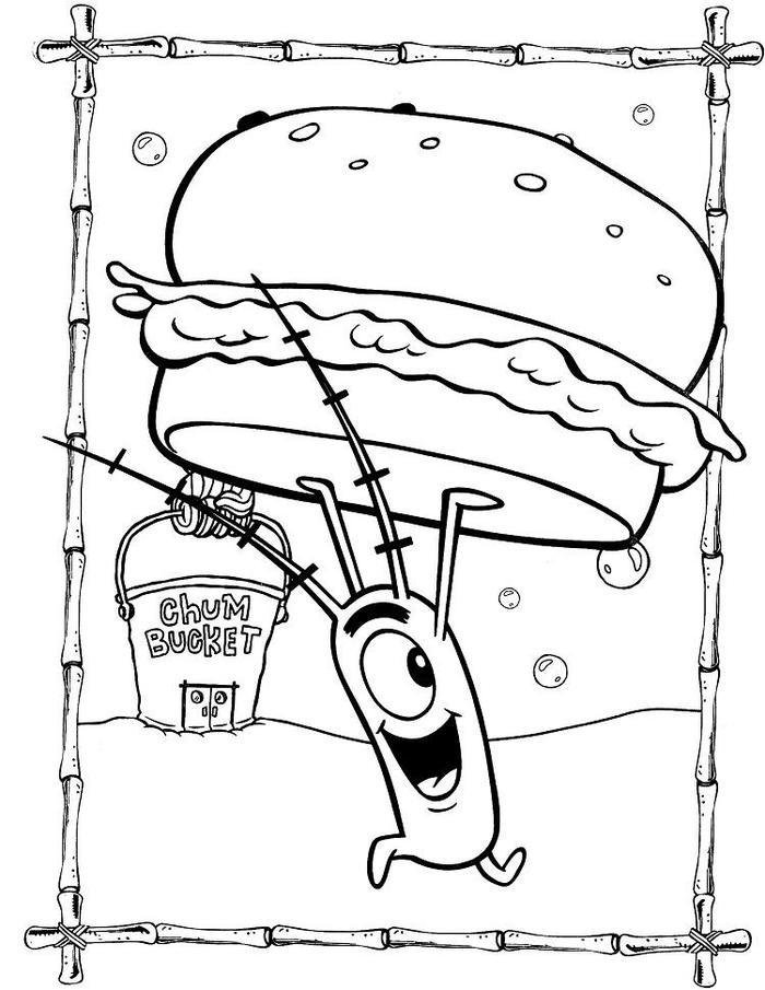 Spongebob Coloring Pages Krabby Patty