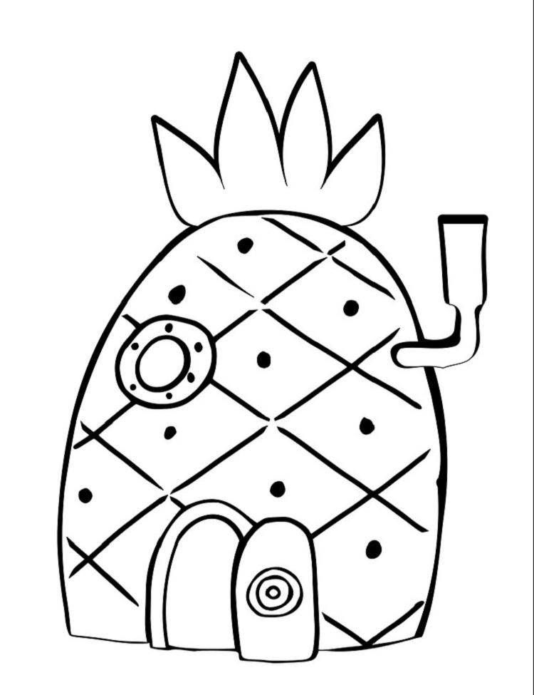 Spongebobs House Coloring Pages
