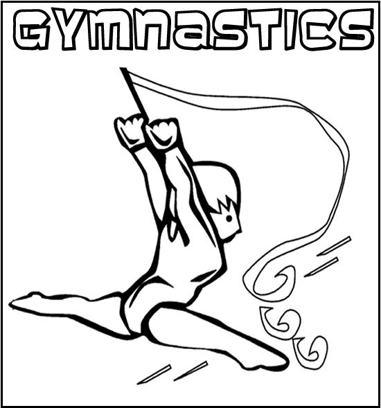 Sport Coloring Pages For Kids Gymnastics
