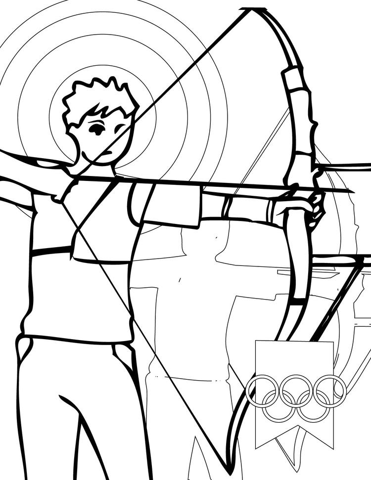 Sports Coloring Pages Archery