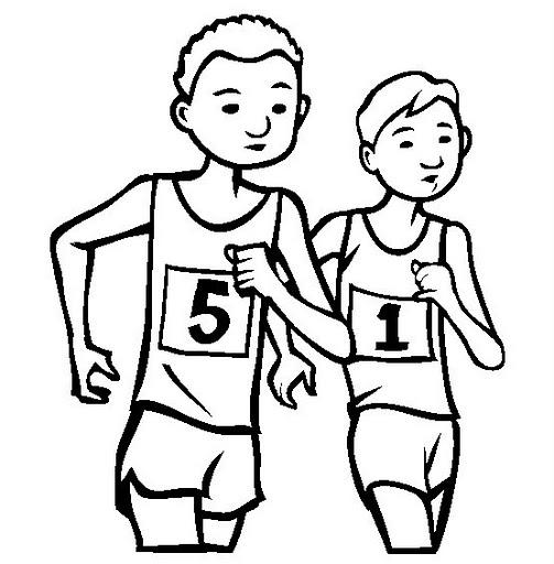 Sports Coloring Pages Marathon
