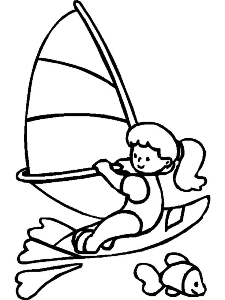 Sports Coloring Pages Sailing
