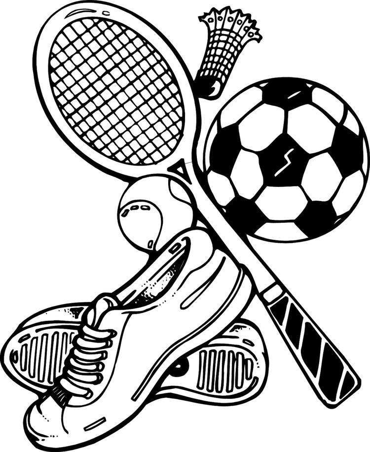 Sports Coloring Pages Sporting Goods