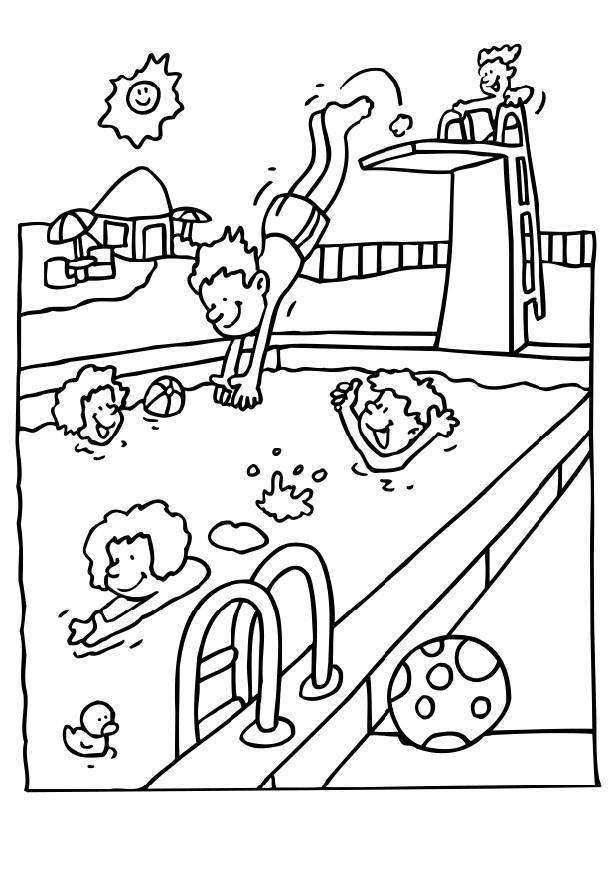 Sports Coloring Pages Swimming