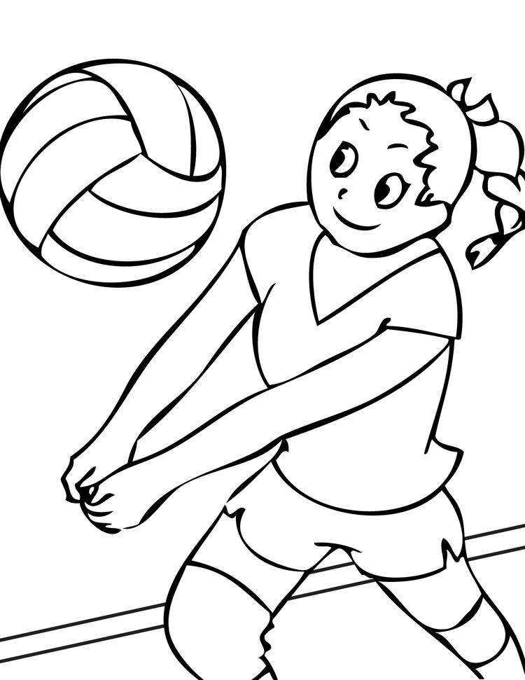 Sports Coloring Pages Volleyball
