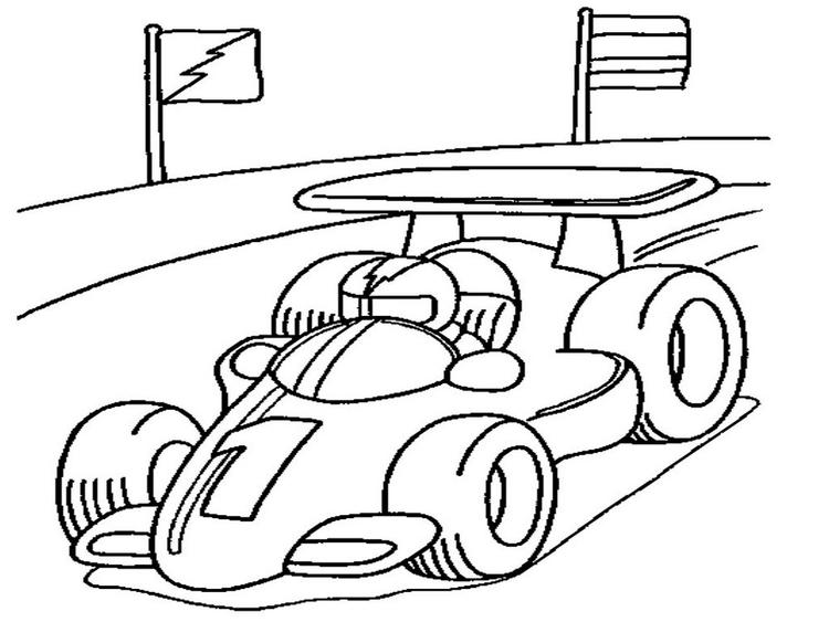 Sporty Car Coloring Pages Printable