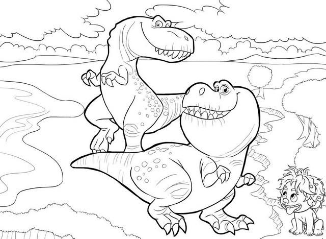 Spot Ramsey And Butch Disney The Good Dinosaur Coloring Page
