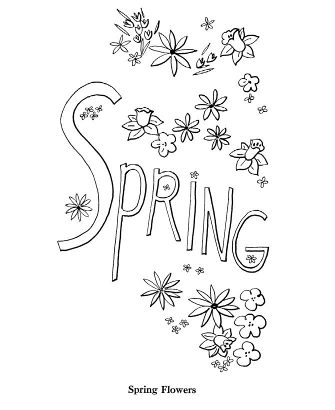 Spring Alphabet Coloring Pages