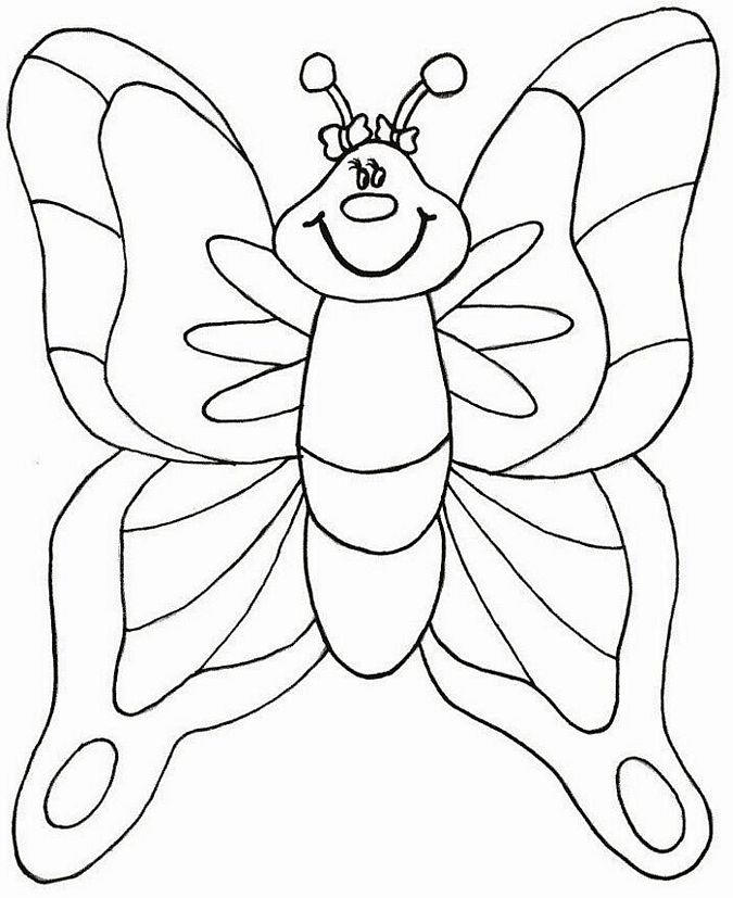 Spring Coloring Pages Butterfly