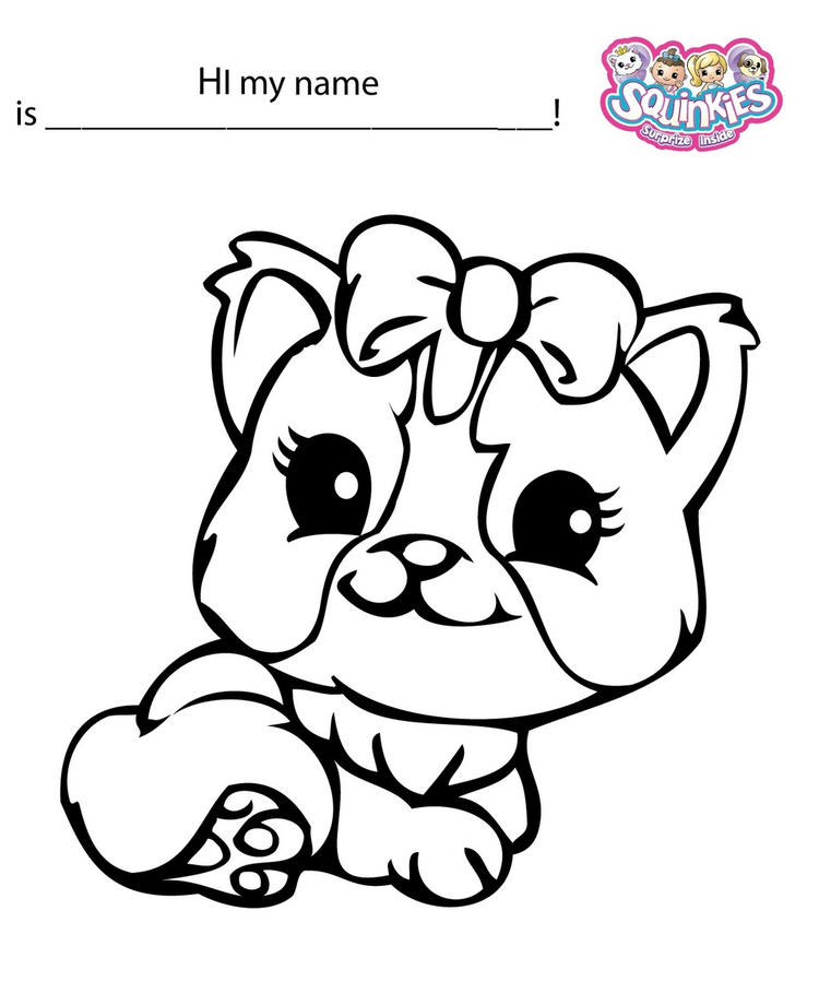Squinkies Toys Coloring And Activity Page