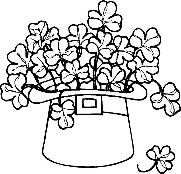 St Patricks Day Coloring Pages Clover Leaves