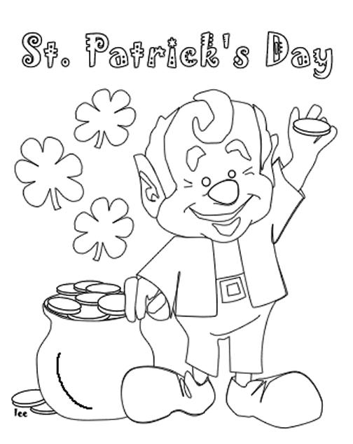 St Patricks Day Coloring Pages For Kids Printable