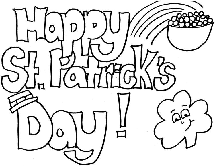 St Patricks Day Coloring Pages Free For Kids
