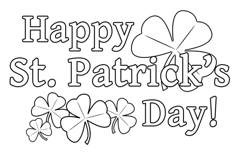 St Patricks Day Coloring Pages Printable For Kids
