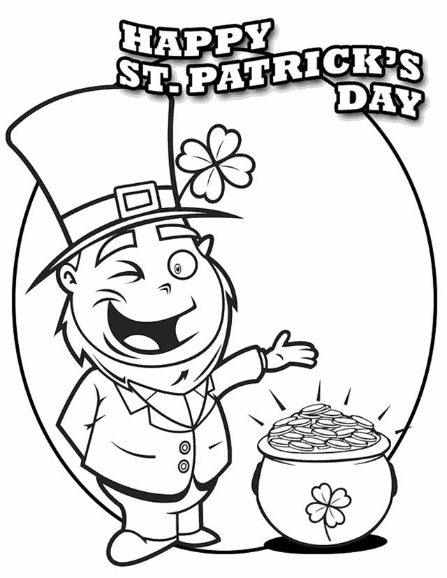 St Patricks Day Coloring Pages To Print
