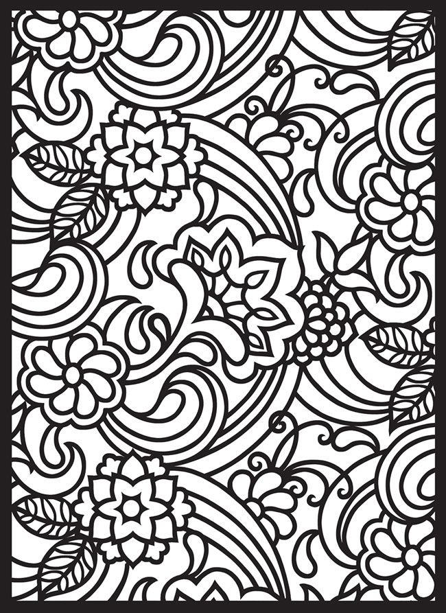 Stained Glass Coloring Pages For Girls