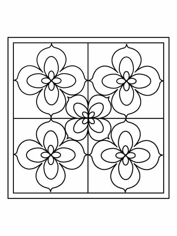 Stained Glass Coloring Pages For Kids