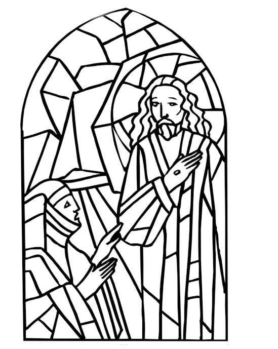 Stained Glass Window Coloring Sheet