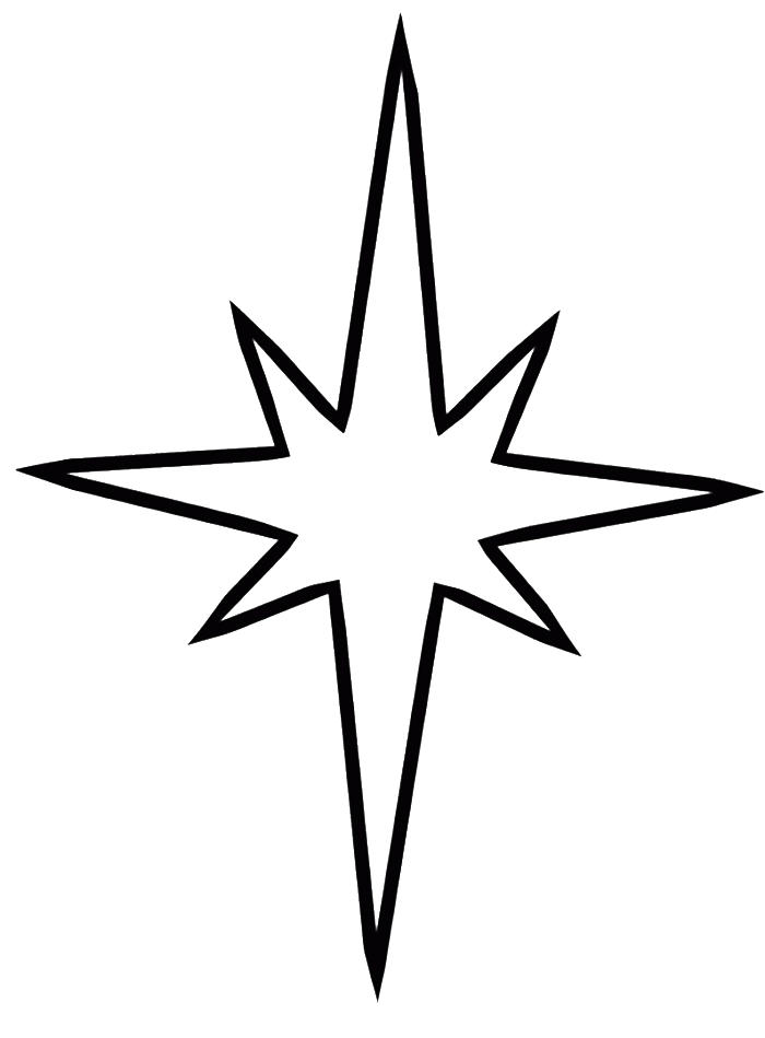 Star Coloring Pages Shining Star