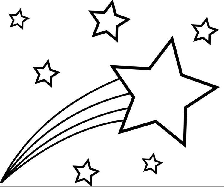 Star Coloring Pages Shooting Star