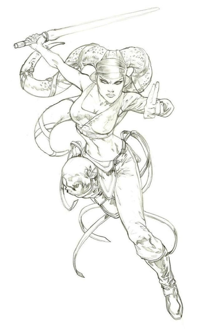Star Wars Coloring Pages Aayla Secura