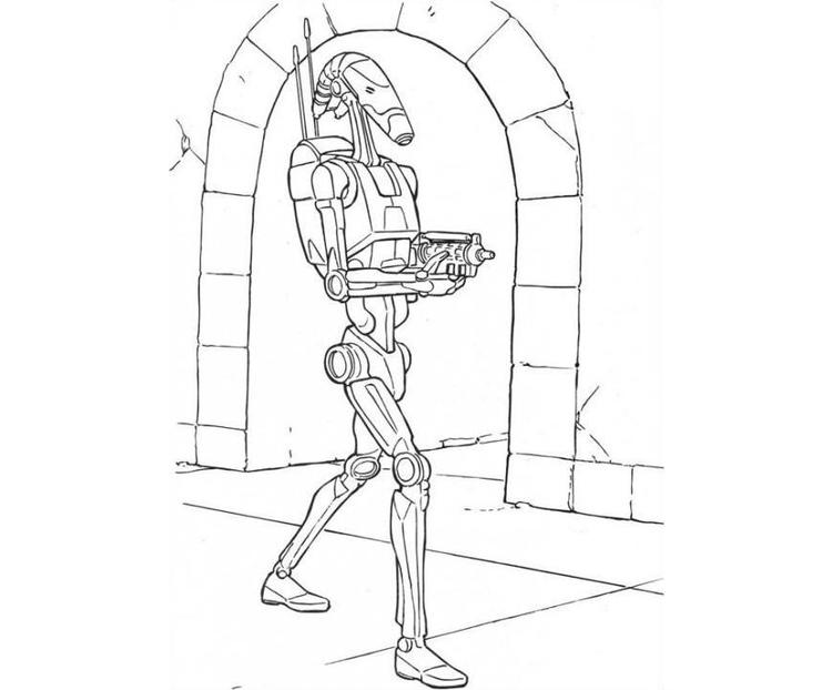 Star Wars Coloring Pages Battle Droid