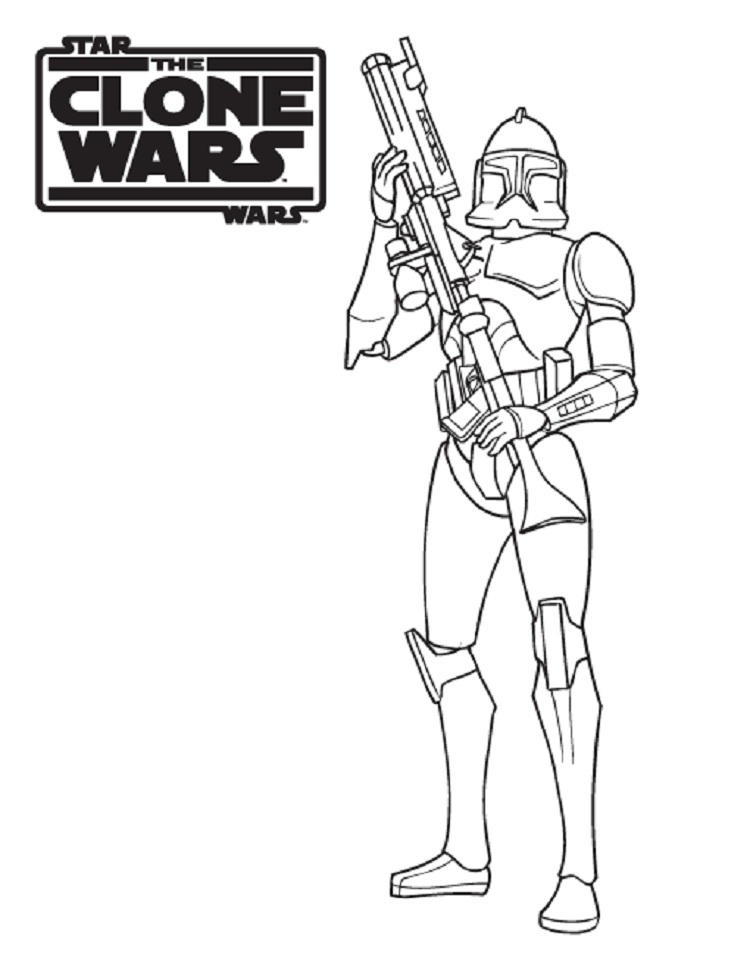 Star Wars Coloring Pages Clones