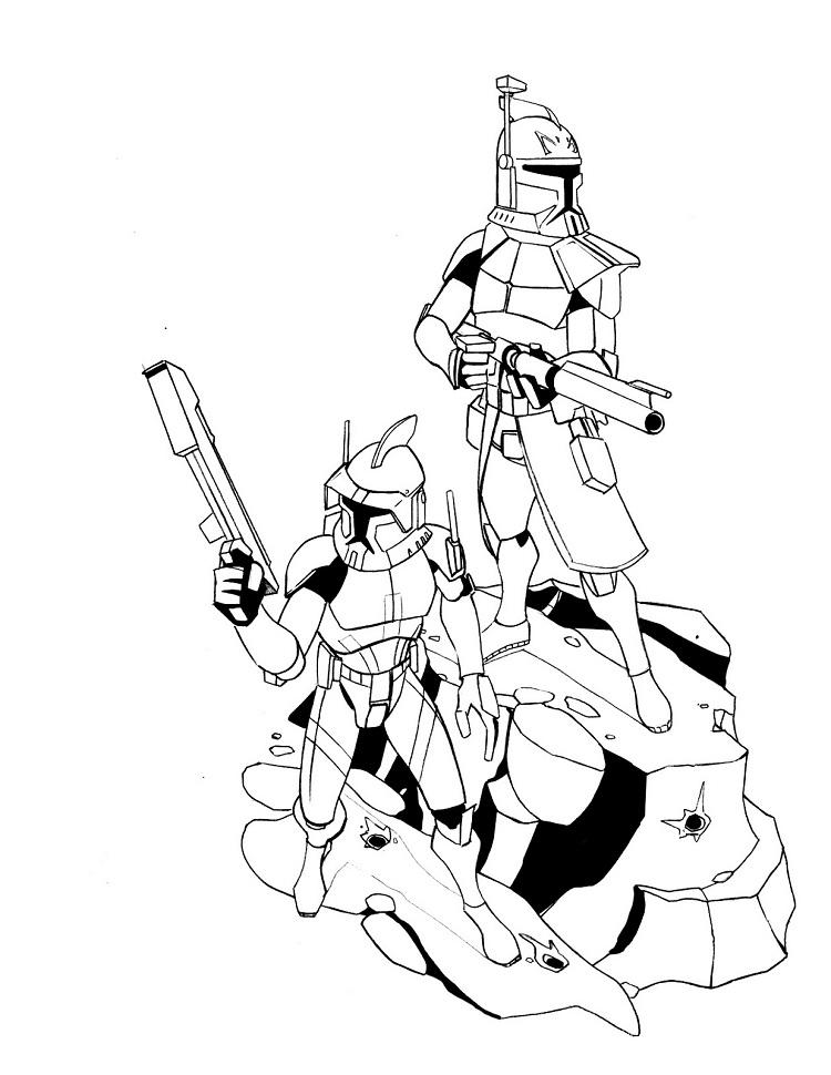 Star Wars Coloring Pages Commander Cody