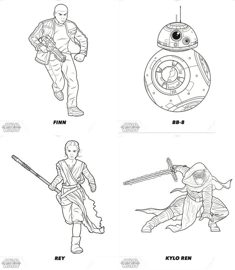 Star Wars Coloring Pages Force Awakens