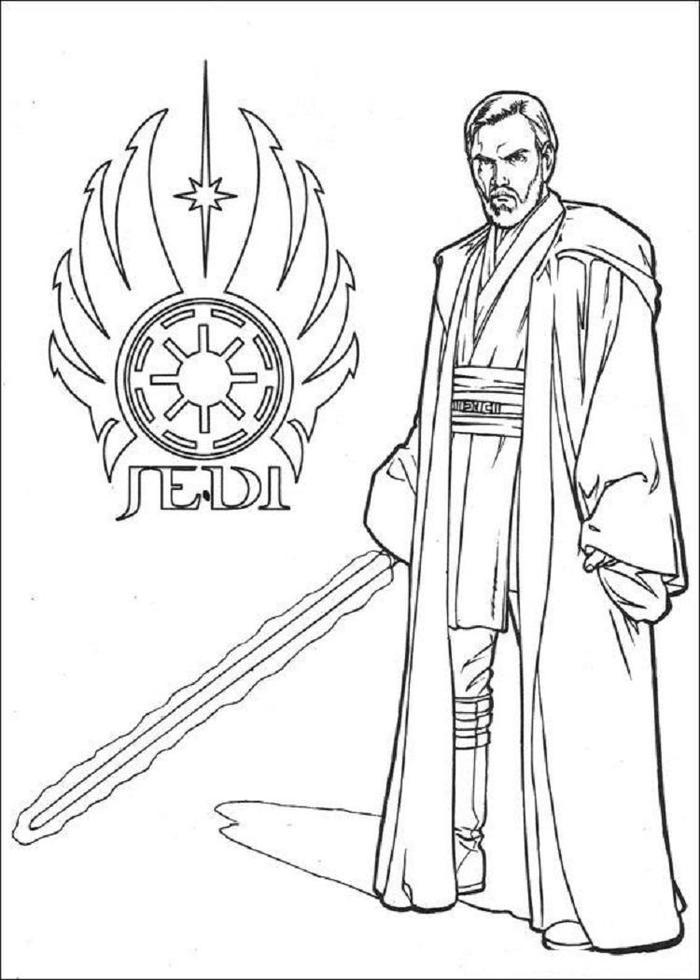Star Wars Coloring Pages Jedi Knight