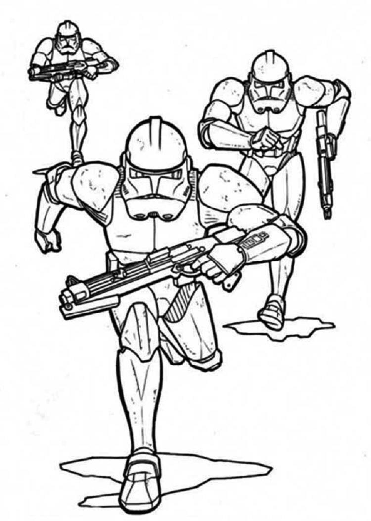 Star Wars Coloring Pages Of Clone Troopers
