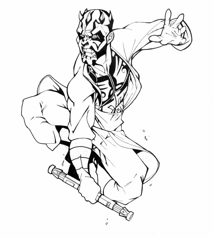 Star Wars Coloring Pages Of Darth Maul