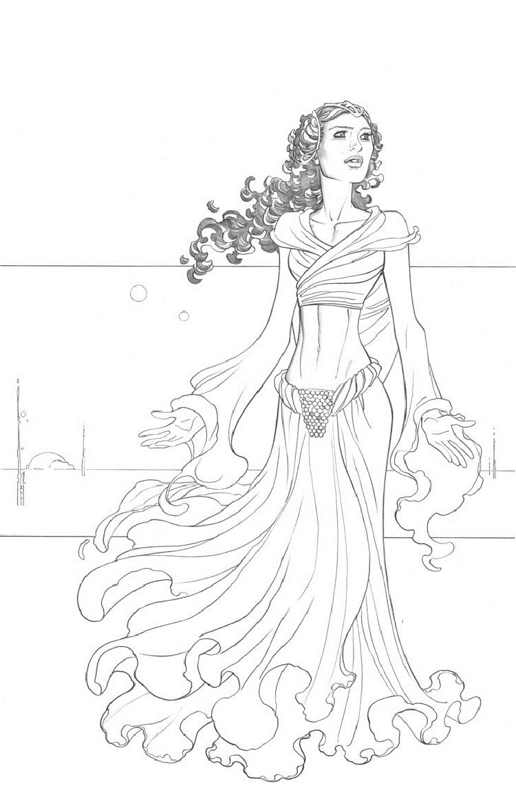 Star Wars Coloring Pages Padme