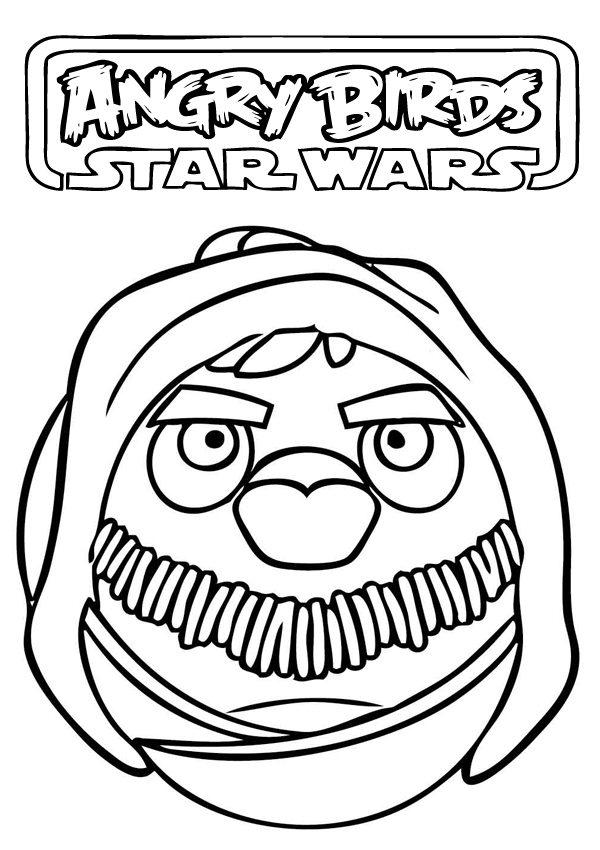 Star Wars Coloring Pages Printable Angry Birds