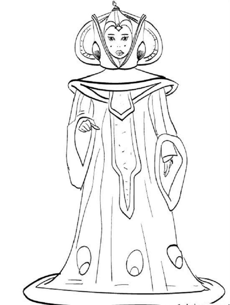 Star Wars Coloring Pages Queen Amidala