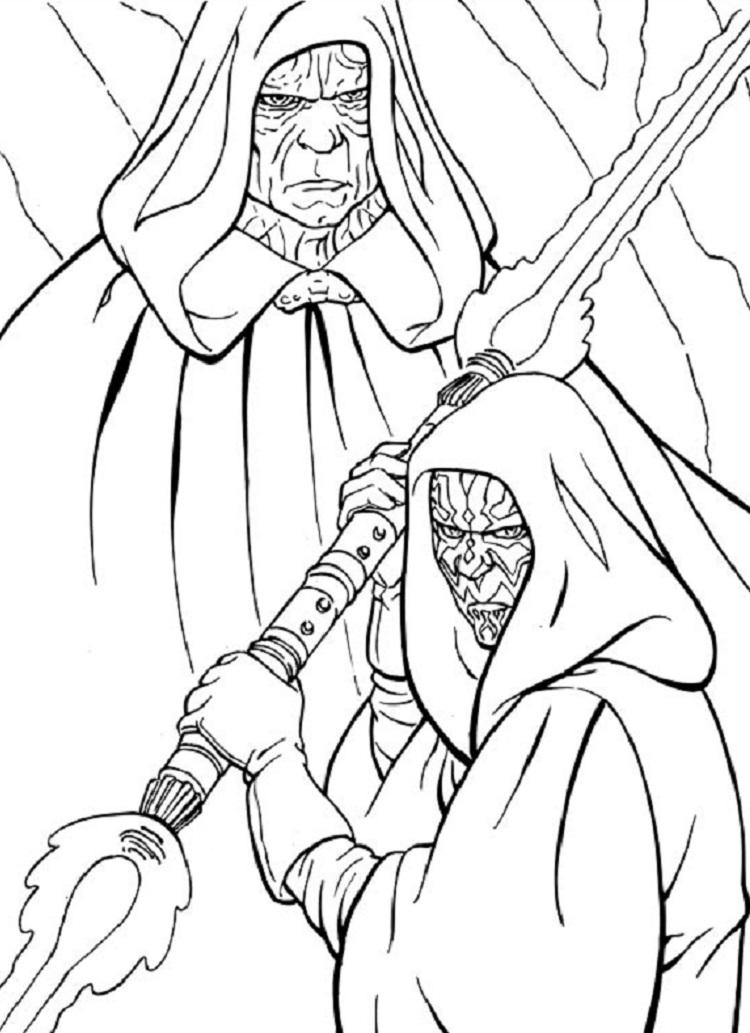 Star Wars Coloring Pages Revenge Of The Sith
