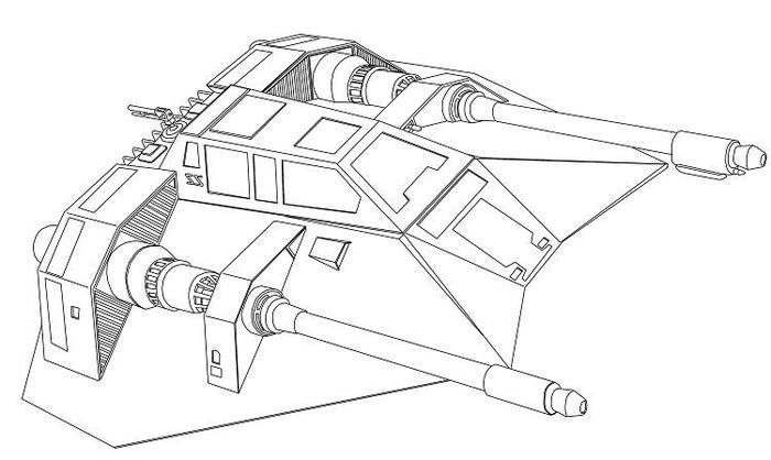 Star Wars Coloring Pages Snowspeeder