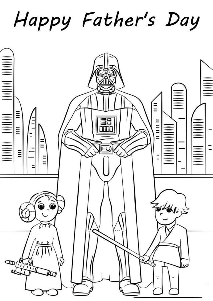 Star Wars Fathers Day Coloring Pages