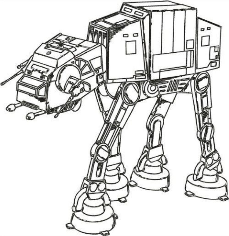 Star Wars Imperial Walker Coloring Pages