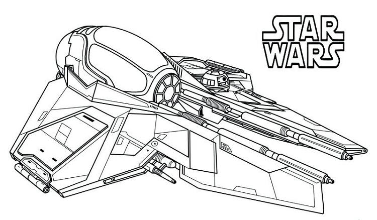 Star Wars Starfighter Coloring Pages