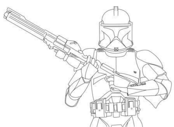 Star Wars Stormtrooper Clone Wars Coloring Pages
