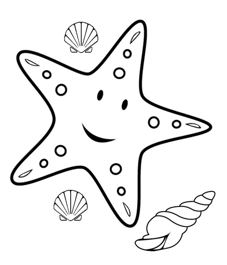 Starfish Coloring Pages Free