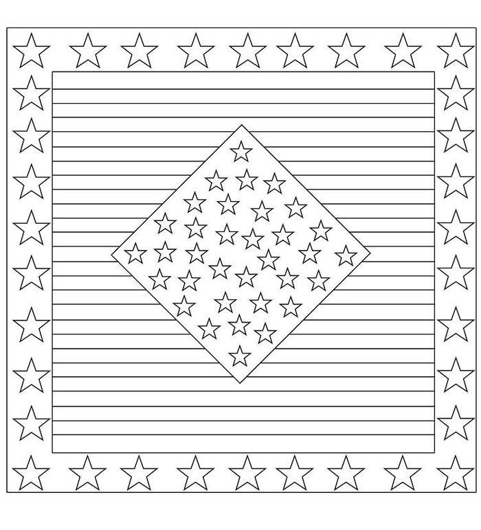 Stars And Stripes Quilt Coloring Pages
