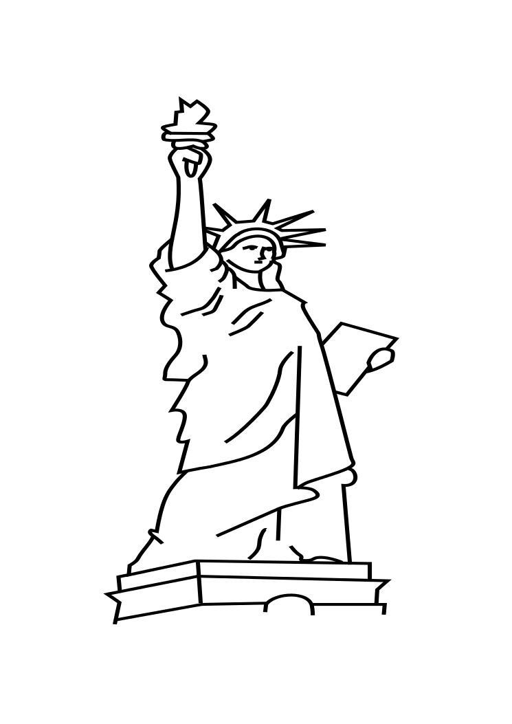 Statue Of Liberty Coloring Pages For Preschooler