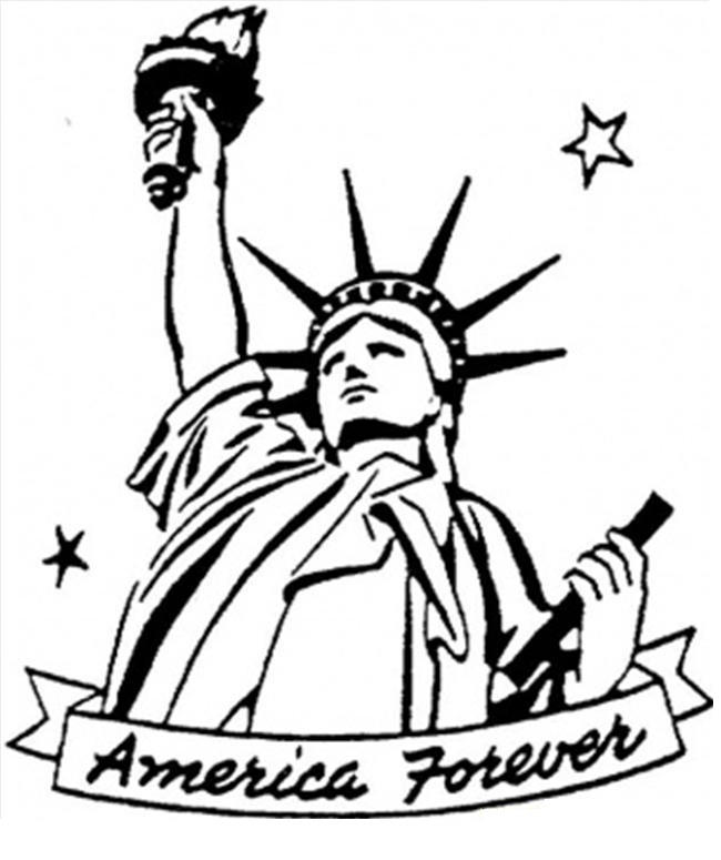Statue Of Liberty Coloring Pages In America