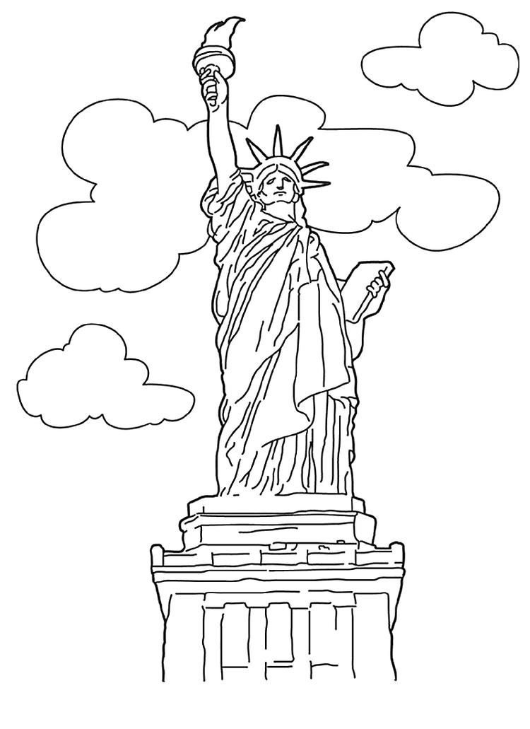 Statue Of Liberty Coloring Pages Printable